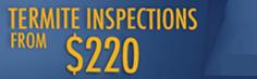 Termite inspection promotion logo